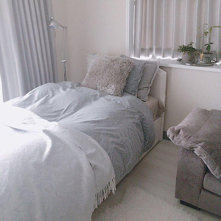 Bedroom/観葉植物/IKEA/寝室/ベッド/クッション...などのインテリア実例 - 2018-01-12 06:49:40