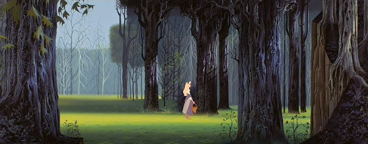 """Sleeping Beauty""  Eyvind Earle (1916-2000) American Artist and Illustrator ~ Blog of an Art Admirer"