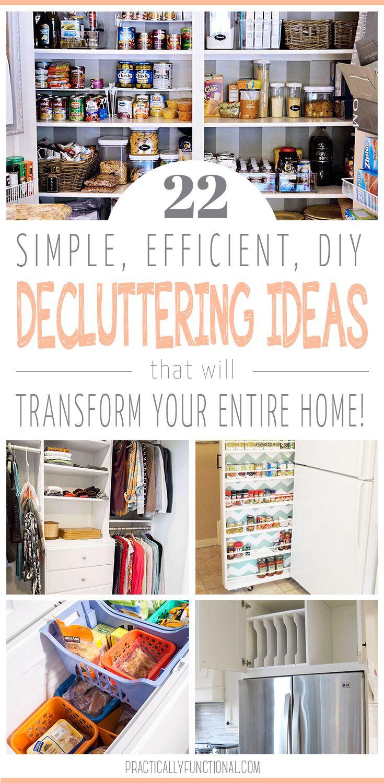 22 Simple Ways To Declutter Your Home Declutter Declutter Your