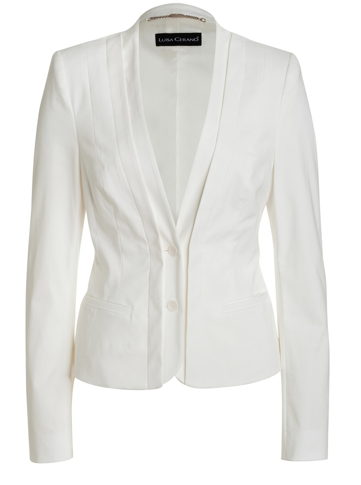 Viscose/linen white jacket