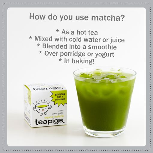 How to use matcha