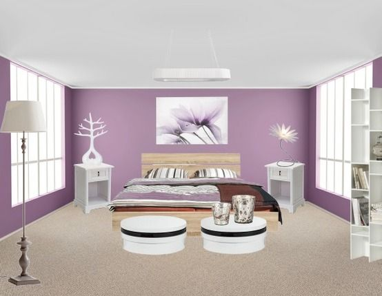 Decoration Salon Bleu Et Gris : Chambre idéale pour un couple, elle marie douceur et pureté, tout en