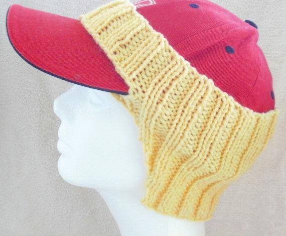 crochet baseball cap ear warmer pattern ship free