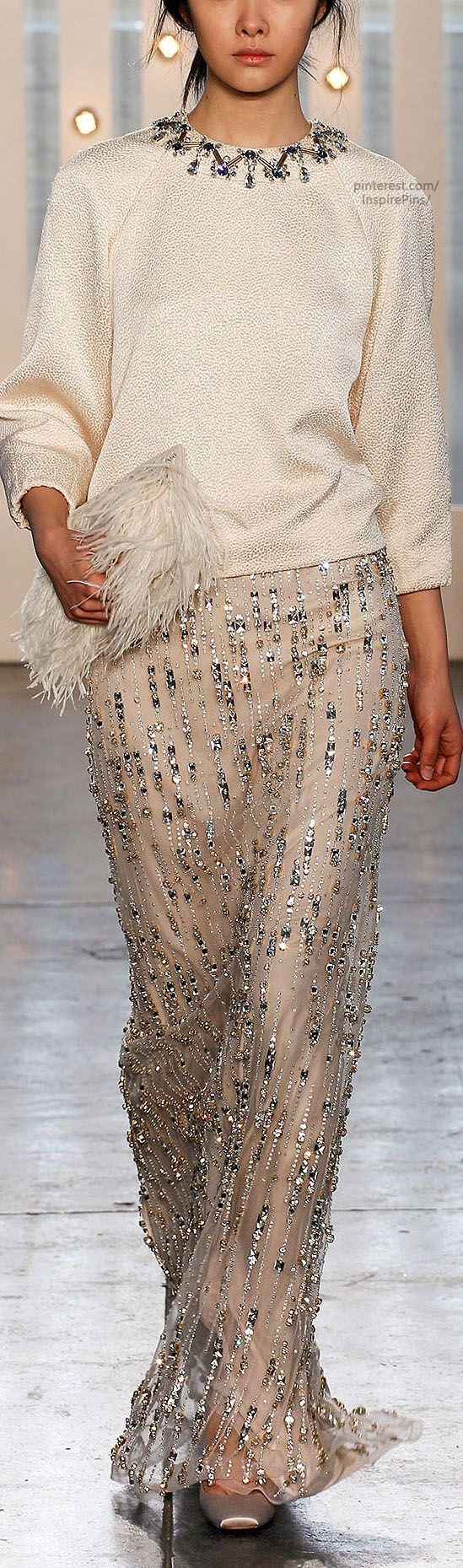 Fall 2014 RTW Jenny Packham  -Ok now let's take that skirt and make it into a full wedding dress because it's perfect. :)
