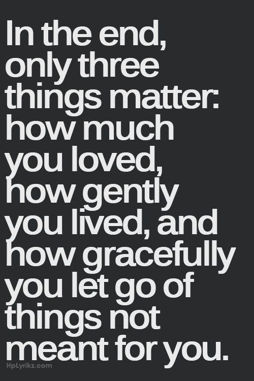 #matter love live gently letgo