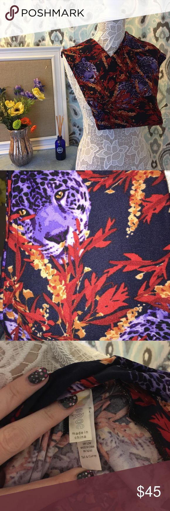 🆕 TC leopard print leggings Beautiful leopard print leggings in TC tall and curvy fits sizes 12-22. Buttery soft. Comes from smoke and cat free home. Never worn or tried on. Bundle and save LuLaRoe Pants Leggings