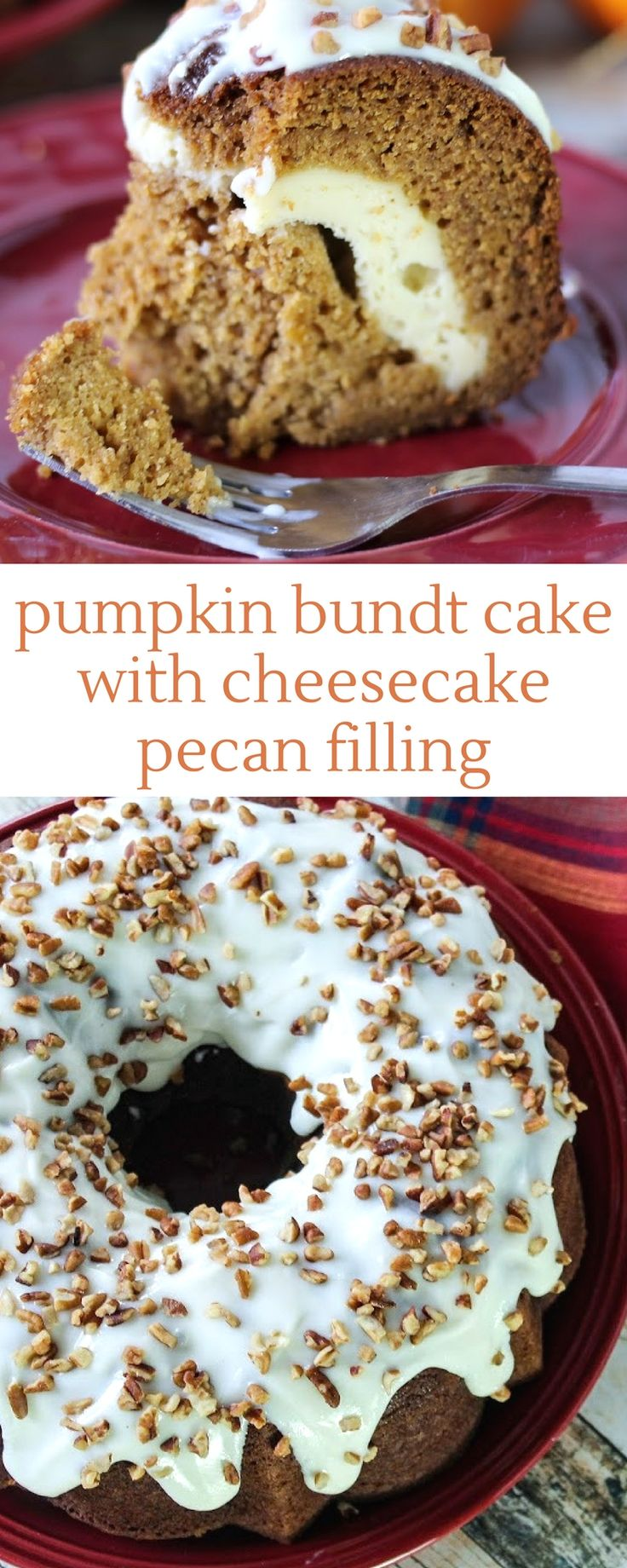 Super moist, the cake has all the fall spices and smells amazing as it bakes. #pumpkinrecipes