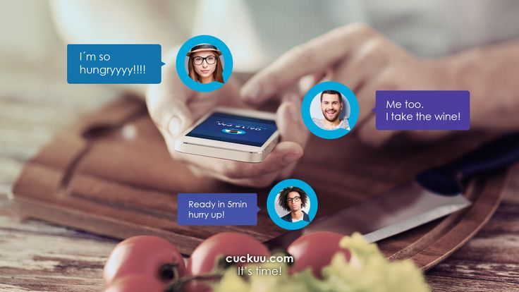 Want to get all your friends together for a dinner? Here's an idea:  - download Cuckuu;  - create an alarm for the dinner and invite your friends to join. You can also add comments so everyone knows what to bring; - enjoy your time together!    https://www.cuckuu.com/