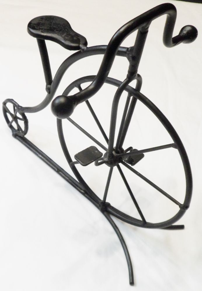 Penny Farthing Retro Big Wheel Bicycle Sculpture Bike cycling stand Decor 8 x 9 #unknown