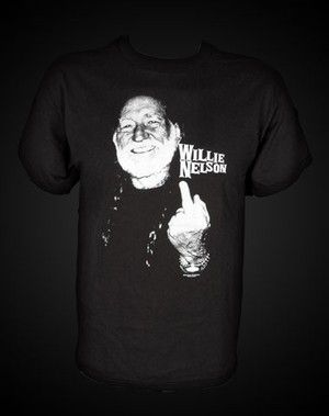 Willie Nelson Middle Finger T-Shirt - Celebrities who wear