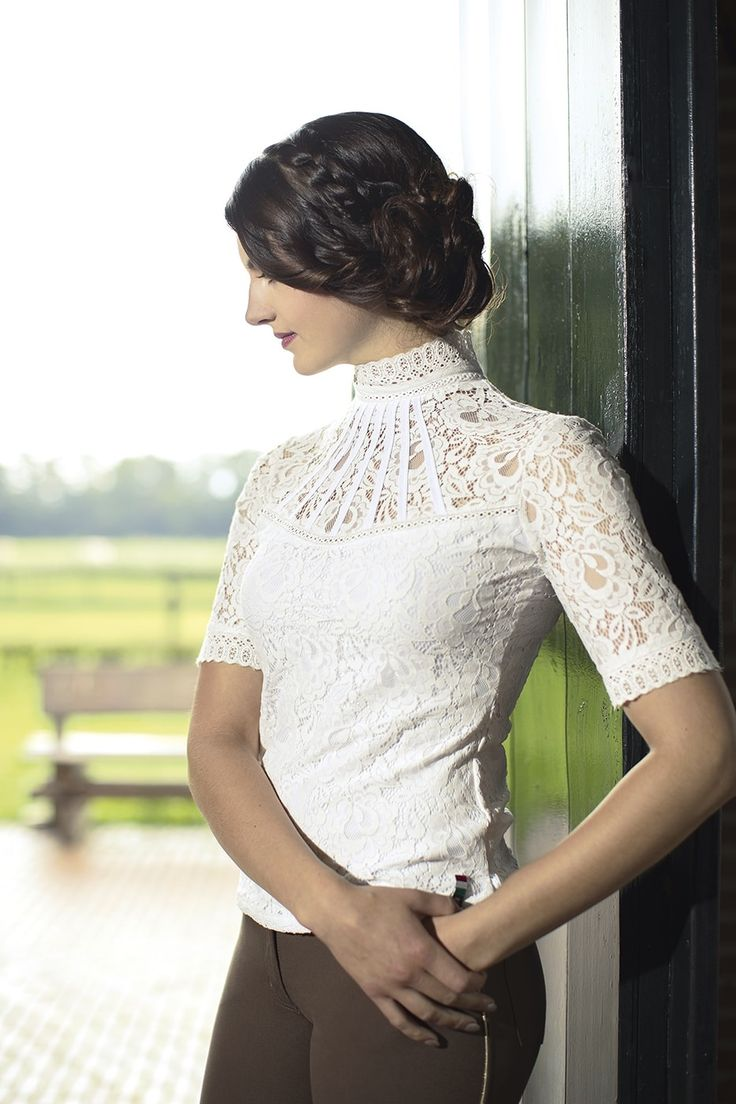 HKM Lauria Garrelli Lace Competition Shirt... These stunning shirts are a LIMITED EDITION and are sure to make you stand out from the crowd! #LofthouseEqustrian