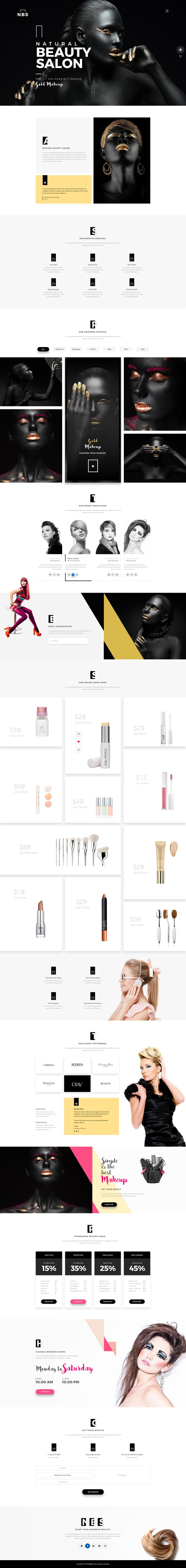Natural Beauty Salon #salon #sauna #skin • Download ➝ https://themeforest.net/item/natural-beauty-salon/19207848?ref=pxcr