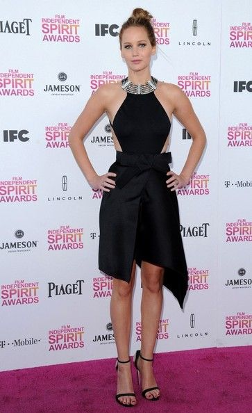 Jennifer Lawrence Photos - 28th Annual Film Independent Spirit Awards..Santa Monica Beach, Santa Monica, CA..February 23, 2013..Job: 130223A1..(Photo by Axelle Woussen)..Pictured: Jennifer Lawrence. - 2013 Film Independent Spirit Awards