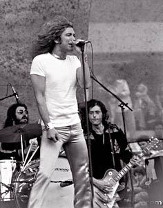 July 24, 1977: Led Zeppelin perform their last ever concert in the United States in Oakland, CA.