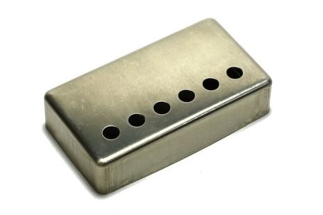 <p>NON-plated RAW humbucker pickup cover with 49.2mm spacing.</p>