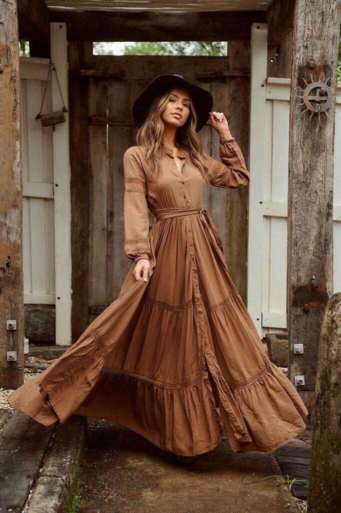Vintage Bohemian Maxi Dress In 2020 Boho Dresses Long Bohemian Dress Vintage Maxi Dress