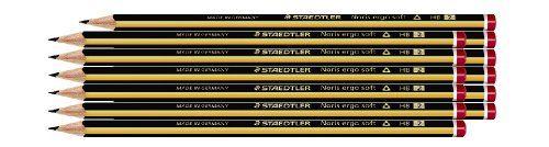 From 8.12 Staedtler Noris 152 Ergosoft Pencil Box Of 12