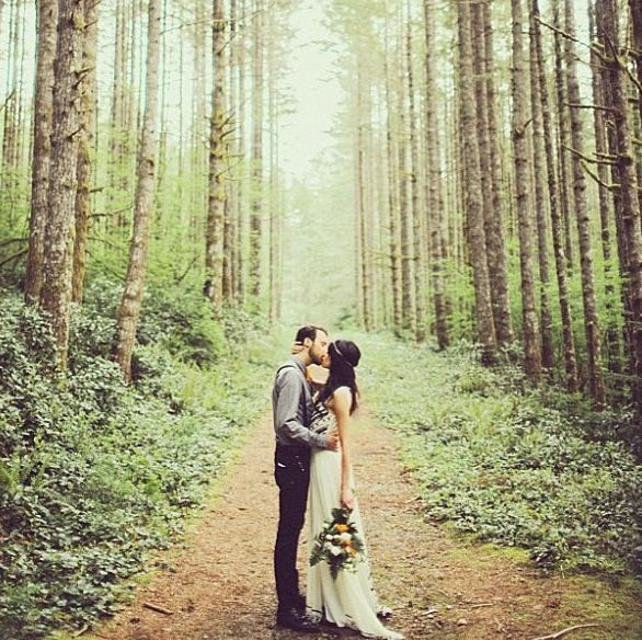 Forest wedding picture , but we have a gorgeous field                                                                                                                                                      More