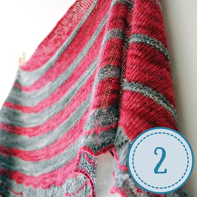 On December 2 the second shawl I ever designed: Swing Revival a two-color cresce…