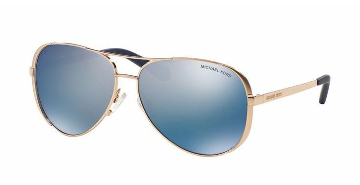 MICHAEL KORS CHELSEA Polarized MK5004 100322 Rose Gold Blue Mirror – Sunglass Oasis Online