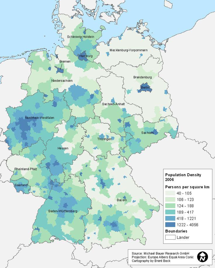 population density of germany