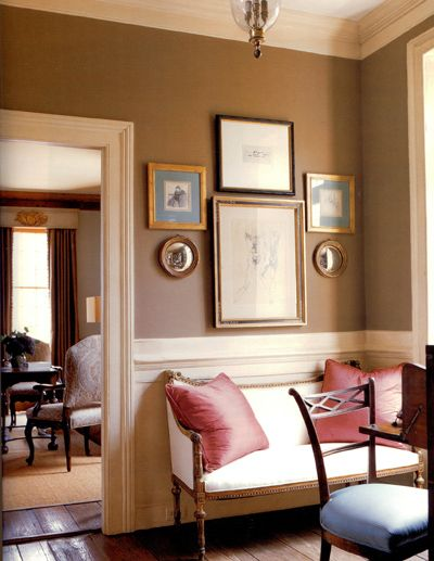 brownDecor, Wall Colors, Dining Room, Country House, Living Room Wall, Painting Colors, Wall Colours, Art Wall, Bedrooms Wall