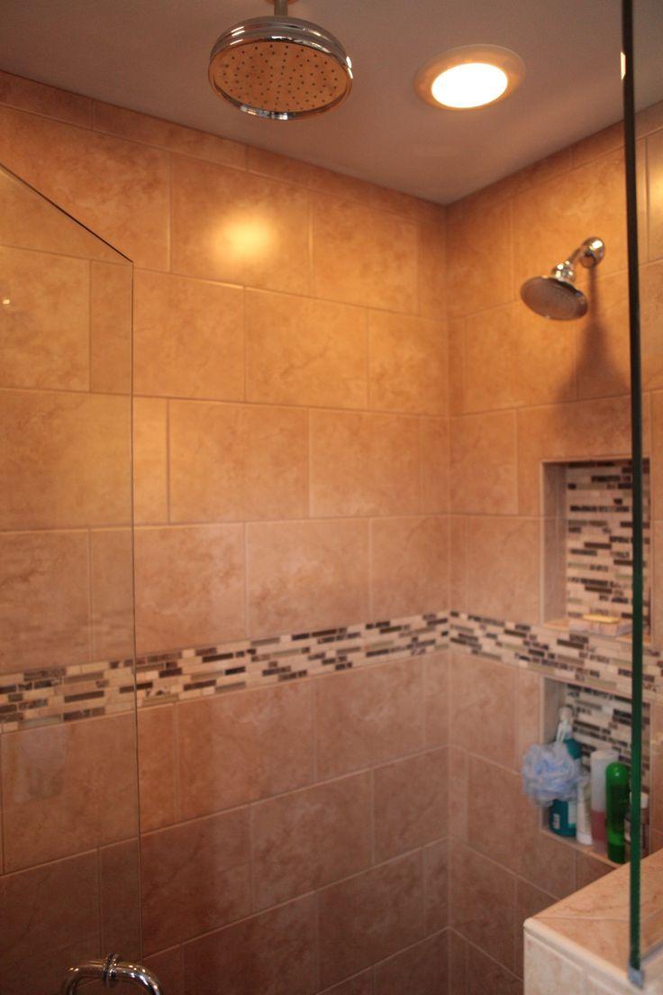#source1ps - Country Cottage Master Bath, Walk-in Shower, Shower Storage