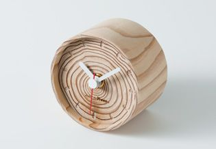 【大分県】more trees 年輪の置時計 直径80×D52(mm) | 木材利用ポイント8000