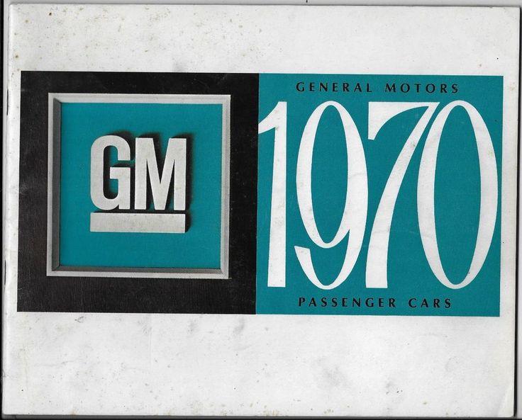 GM General Motors 1970 Passenger Cars Brochure Specifications MSRP