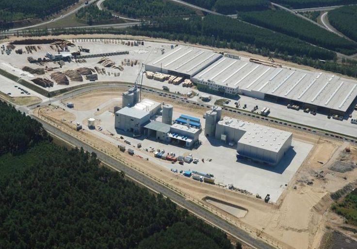 Zobacz naszą fabrykę Pelletu z lotu ptaka. Zakład produkcyjny Pelletu w Zielonej Górze.