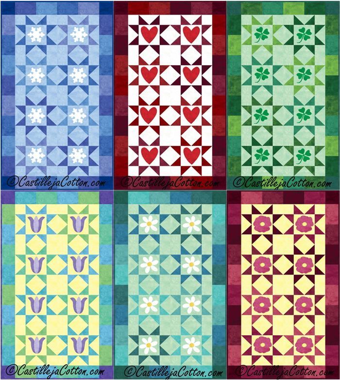 154 best Seasonal Patterns images on Pinterest | Quilt patterns ... : seasonal quilt patterns - Adamdwight.com