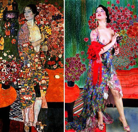 Painting: Klimt Photo: Kattaca