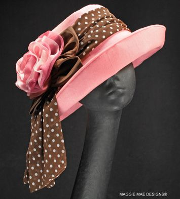 Linen Sallita Derby created hat by MAGGIE MAE DESIGNS is found in Derby Hat Salon 3 at http://www.maggiemae.com/derbyhats3.htm