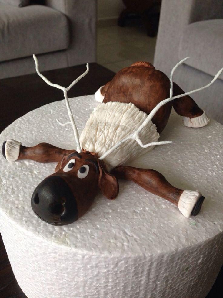 Sven from frozen cake topper