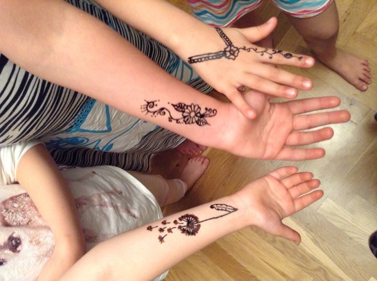 Selfmade easy henna
