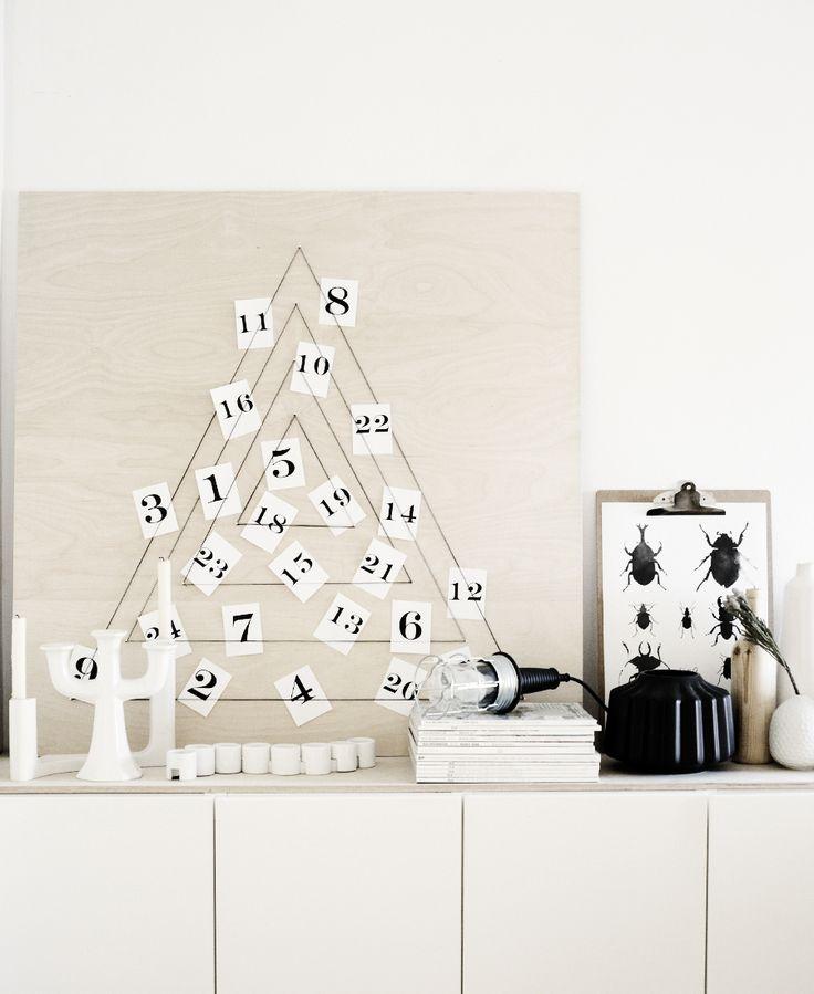 Plywood advent calendar