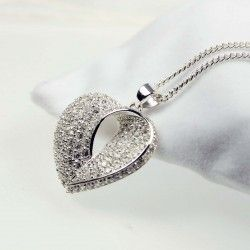 Silver Zirconia Heart Pendant for Women #Gemstone #Jewellery