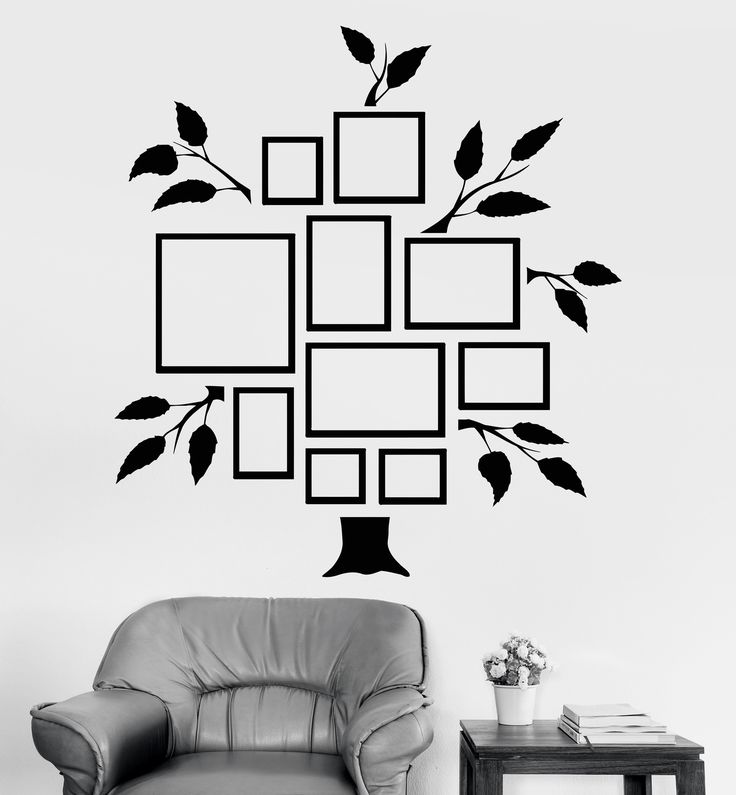 vinyl wall decal family tree frames for photos design for on wall stickers for living room id=19202