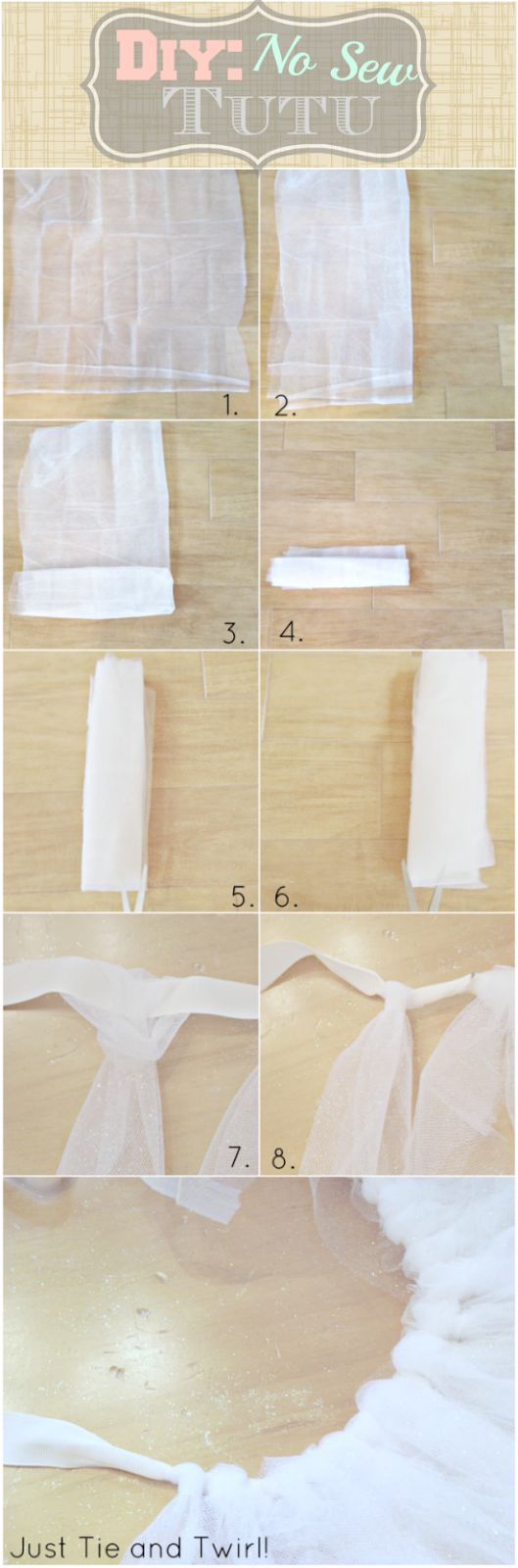 #DIY - No Sew #Tutu on Fawn Over #Baby