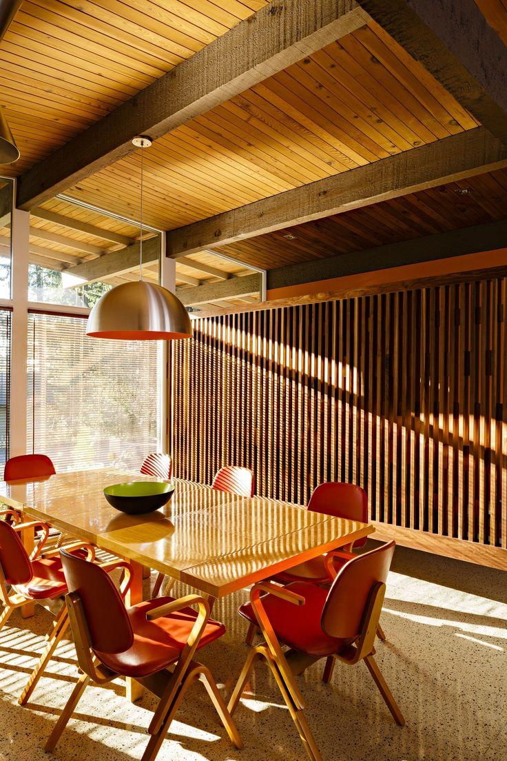 Photo 16 of 366 in Best Dining Photos from Reinvigorating a Classic Midcentury Home in Portland - Dwell