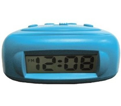 Stay On Time With A Mini Digital Alarm Clock (Available in Aqua or Black)
