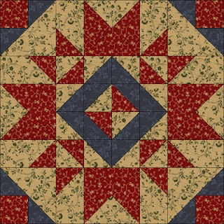 Heartwarming by Pam Buda in Judie Rothermel's Civil War Reproductions. Quiltmaker's 100 Blocks Volume 5; quiltmaker.com/100blocks
