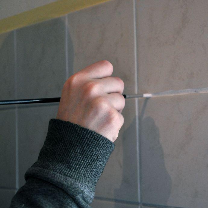 Meer dan 1000 idee n over tegels in badkamers schilderen op pinterest tegels schilderen - Verf vloertegels ...