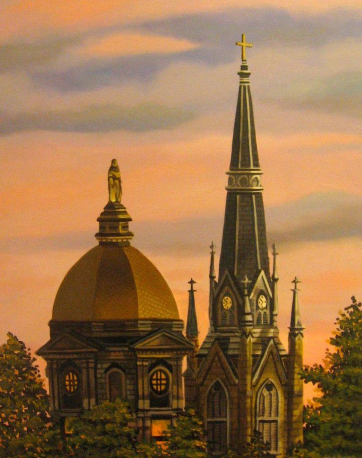 university of notre dame sunset