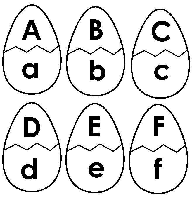 Folder game template: upper case and lower case matching using Egg Alphabet Game