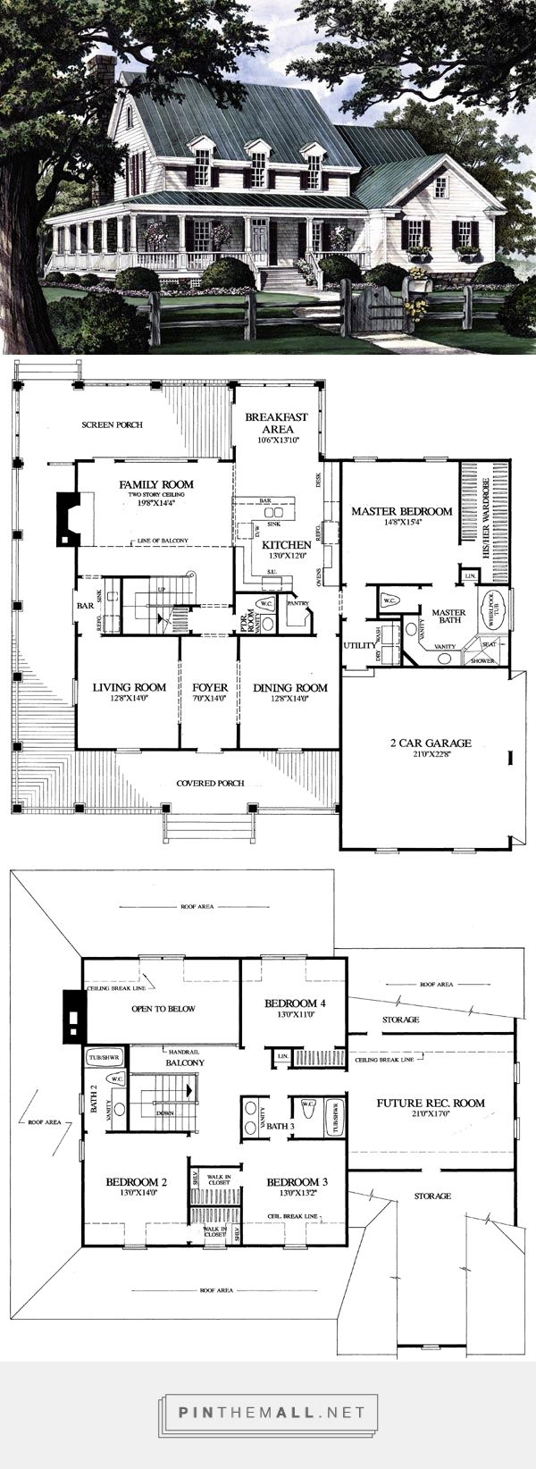 1000 ideas about 2 story homes on pinterest craftsman for Family homeplans com