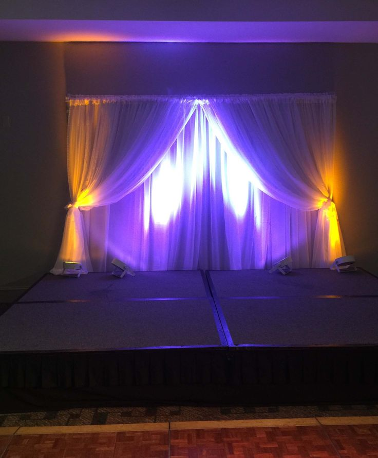 Stage rentals, lighting and backdrop drapery all available from Impact Events Atlanta!