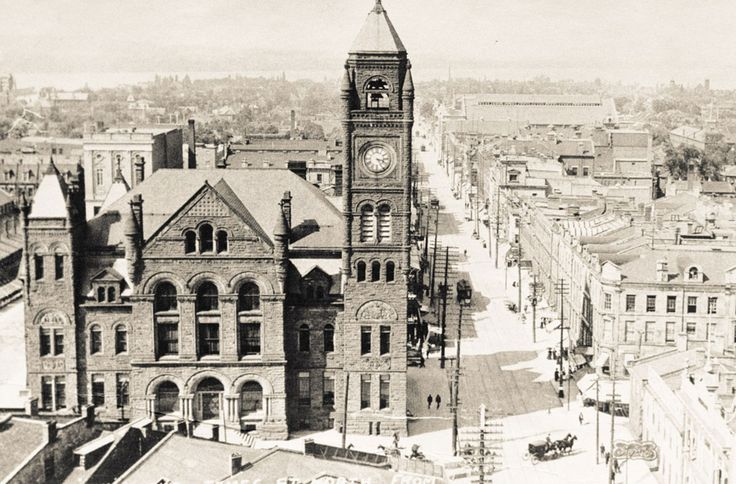 Before the current iteration opened in 1960, Hamilton's City Hall was located at the corner of James Street North and York Street (now York Boulevard), across from the Lister Block. The impressive French Romanesque structure opened in 1889 and was sold to Eaton's in 1955 for $800,000 and eventually torn down to make way for shopping centres.