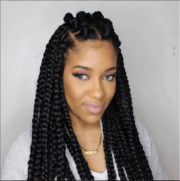 how to style your hair with braids 42 best big jumbo braids styles with images jumbo box 6803 | 9719e75e6644eb877e792b72975f9c3a box braids tutorial braid tutorials