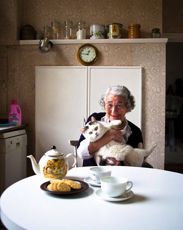Judith Kerr in her high 80's, writing away! interview at link